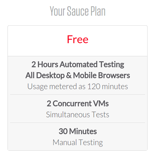 Sauce Labs  Sign Up for Free