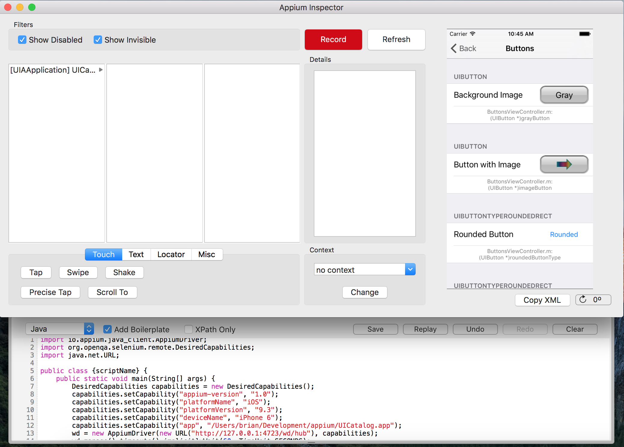 Recording a Functional iOS app test with Appium - Coveros