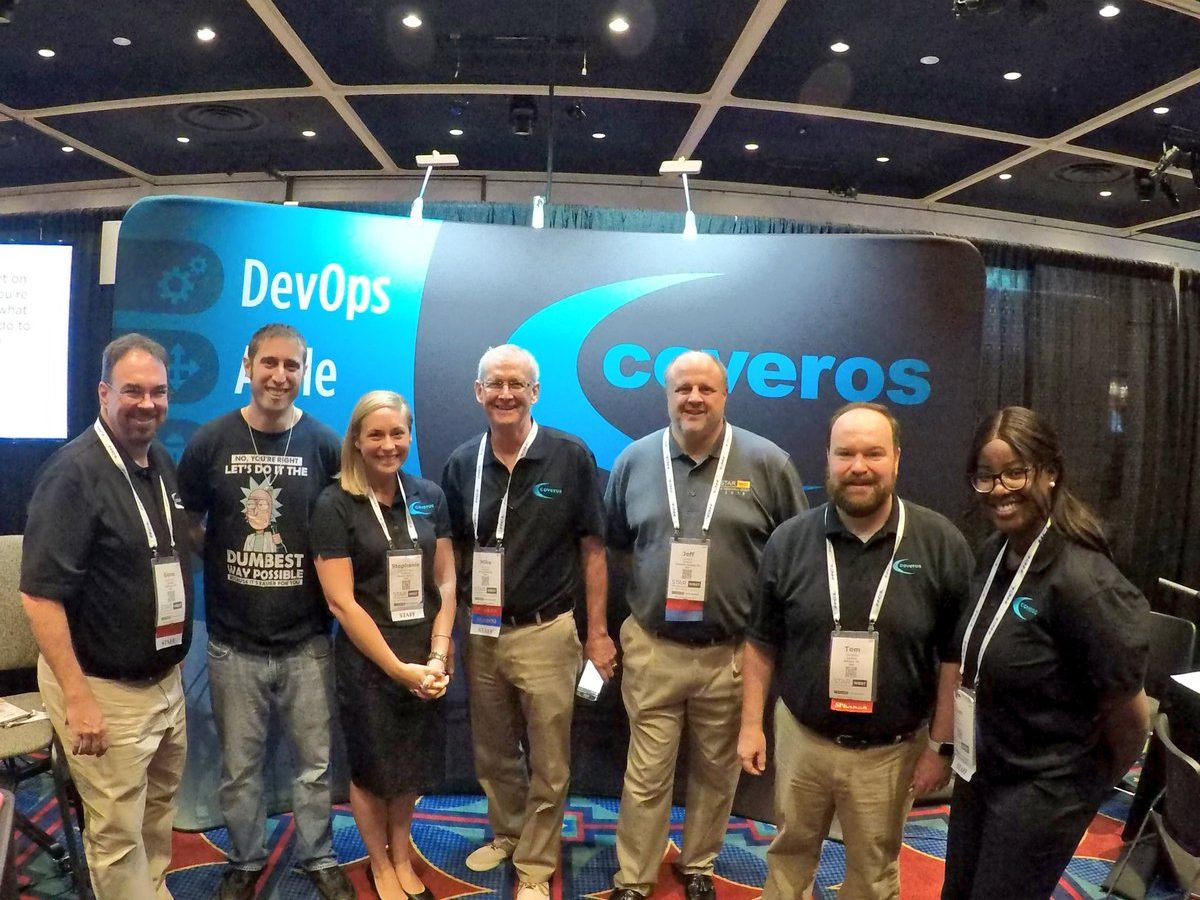 Coveros team at the STARWEST 2018 booth